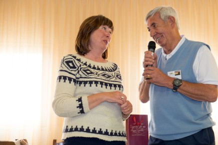 Outgoing president Jill Cole thanked by David Haxon